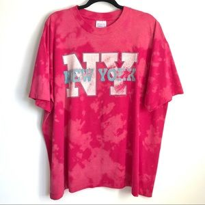 Vintage 1991 Bleached Oversized NY Graphic Tee